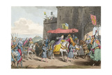 Noblewoman Enters Town Giclee Print by Charles Hamilton Smith
