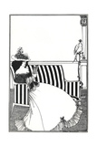 Wrapper of Catalogue of Rare Books Reproduction procédé giclée par Aubrey Beardsley