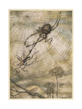 Aesop, Gnat and the Lion Giclée-Druck von Arthur Rackham