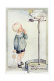 Boy with Cockatoo 20C Gicléetryck av Anne Anderson