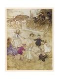 Ring O'Roses Gicléetryck av Arthur Rackham