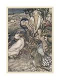 Alice and the Dodo Gicléetryck av Arthur Rackham
