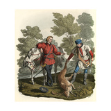 Hunter and Gamekeeper Giclee Print by Charles Hamilton Smith