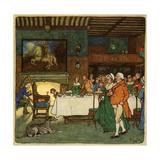 Going in to Dinner Giclée-Druck von Cecil Aldin