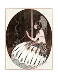 Smoking an Egyptian Bong 1918 Giclée-Druck von Armand Vallee