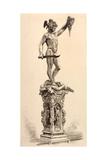 Perseus Giclée-tryk af Benvenuto Cellini
