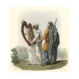 Irish Druid and Ollamh Giclee Print by Charles Hamilton Smith
