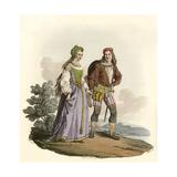 15th Century Couple Giclee Print by Charles Hamilton Smith