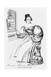 Anna Maria Hall, Frasers Giclee Print by Daniel Maclise