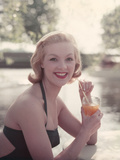 Pin-Up with Drink Photographic Print by Charles Woof