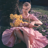 Woman with Daffodils Photographic Print by Charles Woof