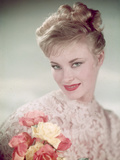Blonde with Lace and Roses Photographic Print by Charles Woof