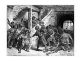 Rioting in Dover Gicléetryck av Edouard Zier
