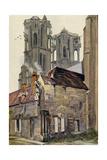 France, Laon Cathedral Giclée-Druck von Ernst Vollbehr
