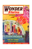Wonder Stories, NY Dome Giclee Print by Frank R Paul