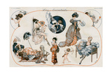 Women with Fans 1918 Giclee Print by Cheri Herouard
