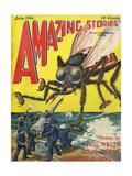 Monster Tsetse Fly Giclee Print by Frank R Paul