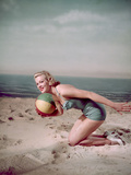 Beach Ball Girl, Woof Photographic Print by Charles Woof