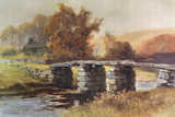 Dartmoor - Clapper Bridge Photographic Print by Ernest W Haslehust