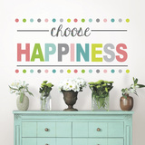 Choose Happiness Quote Autocollant mural