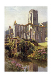 Fountains Abbey Giclee Print by Ernest W Haslehust