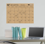Tan Dry Erase Calendar Wall Decal