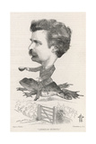 Mark Twain, Riding Frog Giclee Print by F. Waddy