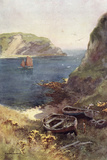 Lulworth Cove Photographic Print by Ernest W Haslehust