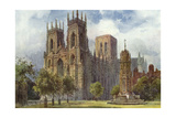 York Minster Giclee Print by Ernest W Haslehust