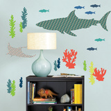 Bart the Shark Wall Art Kit Autocollant mural