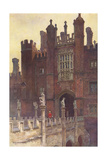Hampton Court, Great Gate Giclee Print by Ernest W Haslehust
