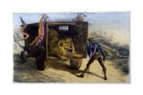 Quixote and Lion Giclee Print by Edmond Morin
