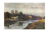 York from the Ouse Giclee Print by Ernest W Haslehust
