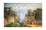 Mount Kanchenjunga from Darjeeling Giclée-Druck von Edward Lear