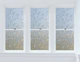 Cut Floral Window Privacy Film Stickers pour fenêtres