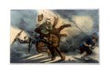 Quixote - Flying Horse Giclee Print by Edmond Morin