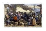 Quixote at Village Giclee Print by Edmond Morin