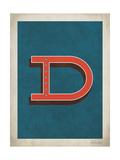 Lettera D vintage Poster di Rebecca Peragine