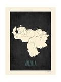 Venezuela - sfondo nero Stampe di Rebecca Peragine
