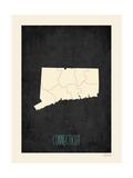 Connecticut - sfondo nero Poster di Rebecca Peragine