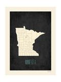 Minnesota Premium Giclee-trykk av  Kindred Sol Collective