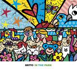 Charlot en el parque Arte por Romero Britto