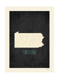 Pennsylvania - sfondo nero Stampe di Rebecca Peragine