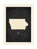 Iowa - sfondo nero Stampe di Rebecca Peragine