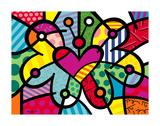 Heart Butterfly Poster von Romero Britto