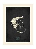 Grecia - sfondo nero Poster di Rebecca Peragine