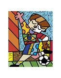 I Love Soccer Posters by Romero Britto