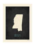Mississippi - sfondo nero Poster di Rebecca Peragine