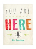 """You are here"" (Tu sei qui) Stampe di  Kindred Sol Collective"