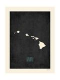 Hawaii - sfondo nero Poster di Rebecca Peragine